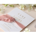 Trendy Foil Stamped Triplex - Wedding Invitations - WP-TP02-MG-02-P - 184186