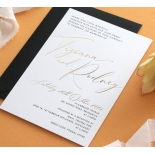 Black and Gold Foiled Triplex - Wedding Invitations - WP-TP01-GG-01 - 184329