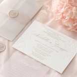 Floral Letterpress with Foil - Wedding Invitations - IC55-GG-LPBD-06 - 185001