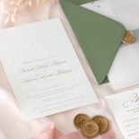 Embossed Ivory Garden Romance with Foil - Wedding Invitations - WP-IC30-BLBF - 184989