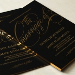 A Polished Affair Wedding Invite Card Design