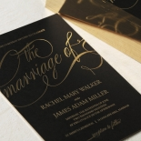 A Polished Affair Wedding Invitation Card Design