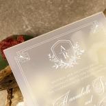 Acrylic Ace of Spades Wedding Card