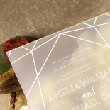 Acrylic Art Deco Wedding Invite Design