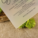 Acrylic Diamond Drapery Wedding Invite