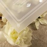 Acrylic Gilded Decadence Wedding Invitation Card