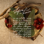 Acrylic Modern Romance Invitation Design