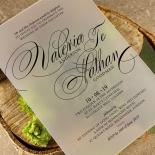 Acrylic Timeless Romance Wedding Invitation