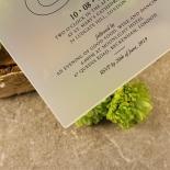 Acrylic Timeless Romance Invitation Card