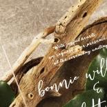 Acrylic Timeless Simplicity Wedding Card Design