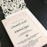 Baroque Pocket Wedding Invite Card
