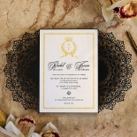 Black Doily Elegance Invite Card Design