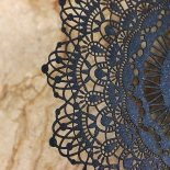 Black Doily Elegance Card Design