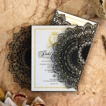 Black Doily Elegance Invite Card