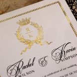 Black Doily Elegance with Foil Invite Design