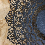 Black Doily Elegance with Foil Card