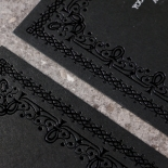 Black on Black Victorian Luxe Invite Card