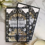 Black Victorian Gates Card Design