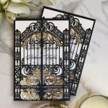 Black Victorian Gates Card Design