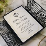 Black Victorian Gates Invitation Design