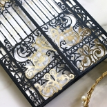 Black Victorian Gates with Foil Card Design