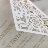 Blooming Charm with Foil Wedding Invite
