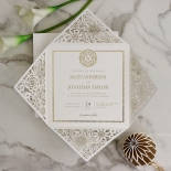 Blooming Charm with Foil Invitation Card Design