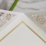 Blooming Charm with Foil Wedding Card