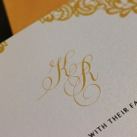 Charming Lace Frame Invite Card