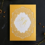 Charming Lace Frame Wedding Invite Card Design
