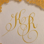 Charming Lace Frame Wedding Invite Design