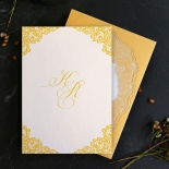 Charming Lace Frame Wedding Invitation Card Design