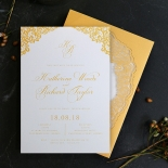 Charming Lace Frame with Foil Card Design