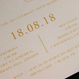 Charming Lace Frame with Foil Invitation Card Design