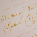 Charming Lace Frame with Foil Invitation Design