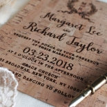 Chic Country Passion Wedding Invite