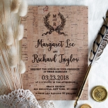 Chic Country Passion Invitation Card