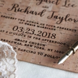 Chic Country Passion Invitation Card Design