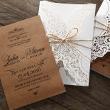 Country Glamour Wedding Invite Card