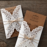 Country Glamour Invite Card
