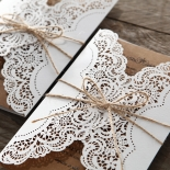 Country Glamour Invitation Card