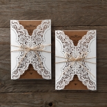 Country Glamour Wedding Card