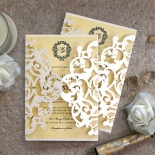 Damask Love Wedding Invite Card