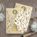 Damask Love Wedding Invite Card