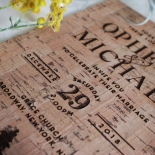 Delightful Forest Romance Wedding Invite Card