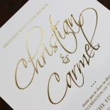 Diamond Drapery Wedding Card Design