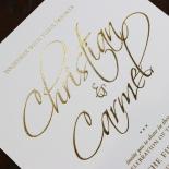Diamond Drapery Wedding Card Design