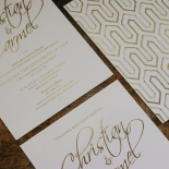 Diamond Drapery Invitation