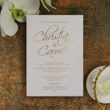 Diamond Drapery Invitation Card