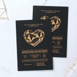 Digital Love Wedding Invitation Card Design